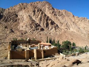 Santa Katarina Monastery, supposedly at the foot of Mt. Sinai. To the left is the Burning Bush...